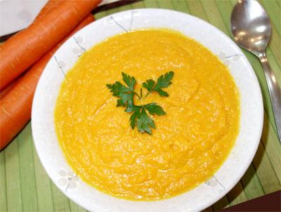 Creme de Cenoura com Quinoa