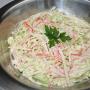 Salada de Alho-poró com Kani-kama