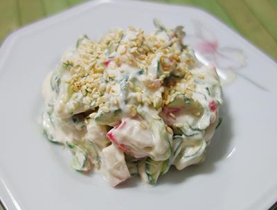 Salada de Pepino com Cream Cheese