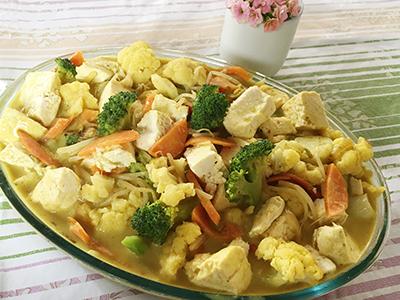 Vegetais ao Curry